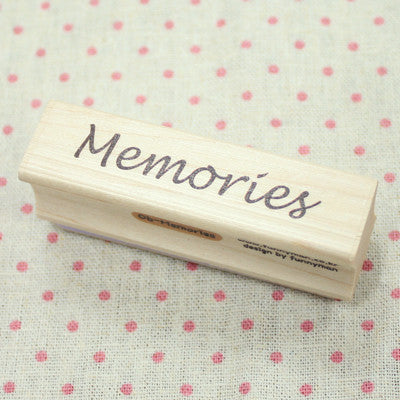 Long Line Wood Stamp - Message 06 - Memories
