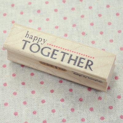 Long Line Wood Stamp - Message 09 - Happy Together