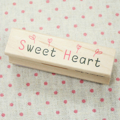 Long Line Wood Stamp - Message 10 - Sweet Heart