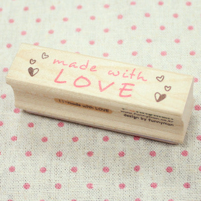 Long Line Wood Stamp - Message 11 - Made With Love