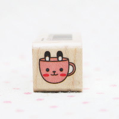 Wood Stamp - Deco - D09 - Rabbit cup