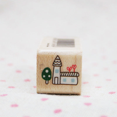 Wood Stamp - Deco - D11 - House