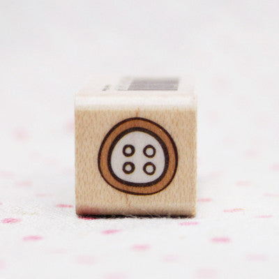 Wood Stamp - Deco - D13 - Button