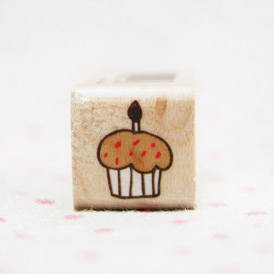Wood Stamp - Deco - D15 - Cupcake