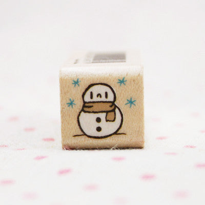 Wood Stamp - Deco - D19 - Snowman