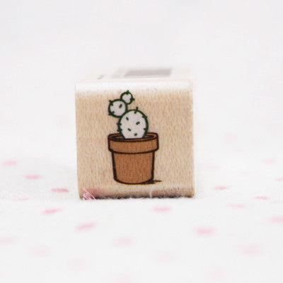 Wood Stamp - Deco - D20 - Cactus