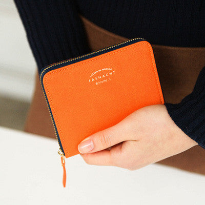 Zipper Wallet Fasnacht - S - Orange