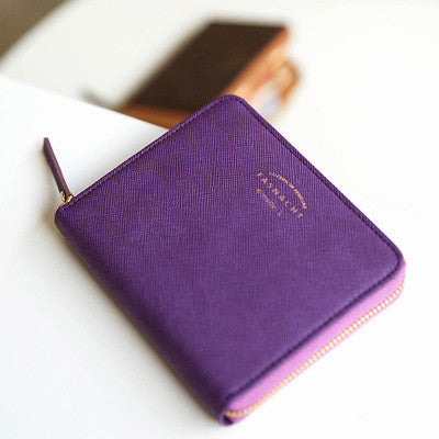 Zipper Wallet Fasnacht - S - Purple