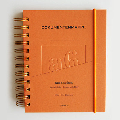 Document Folder Taschen A6 - Dark Orange
