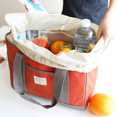 Linen Cooler Bag - Carrot