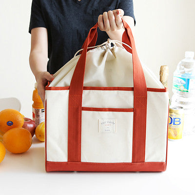Linen Cooler Bag - Cream