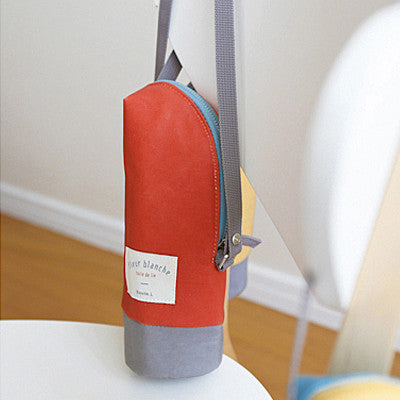 Linen Cooler Bottle Pouch - Carrot