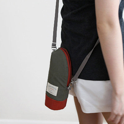 Linen Cooler Bottle Pouch - Kiwi
