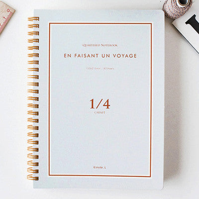 Quartered Notebook En Faisant un Voyage - 1/4 - Grid