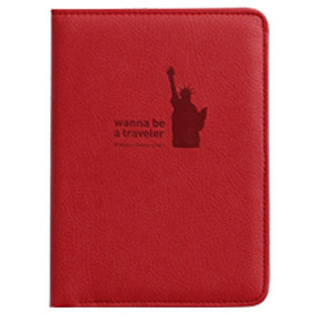 Passport Cover - Mini Journey No Skimming Ver.2 - Red
