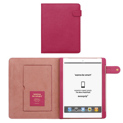 Wanna Be Smart Ipad 2 Cover - Hot Pink