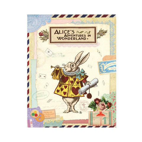 Photo Album Alice in Wonderland - Vintage Collage - Rabbit - AL0999