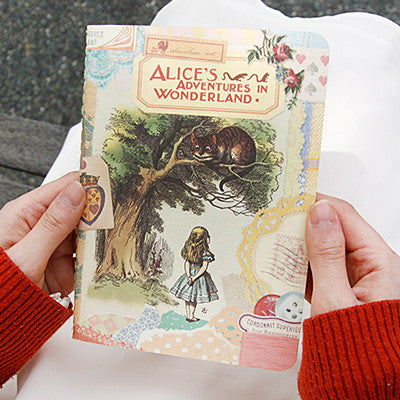 Stitch Notebook - Alice in Wonderland - Vintage Collage - Line Note - S - AL1675
