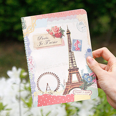 Stitch Notebook - Paris - Vintage Collage - Line Note - S - VY1699