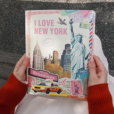 Stitch Notebook - New York - Vintage Collage - Line Note - L - VY1644