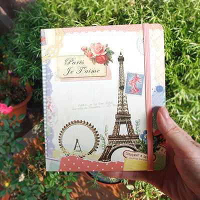 Hard Cover Line Notebook Vintage Collage - Paris - VY1835