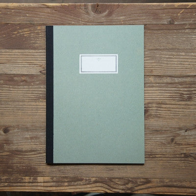 Stitch Notebook Plain - Light Green- Size L