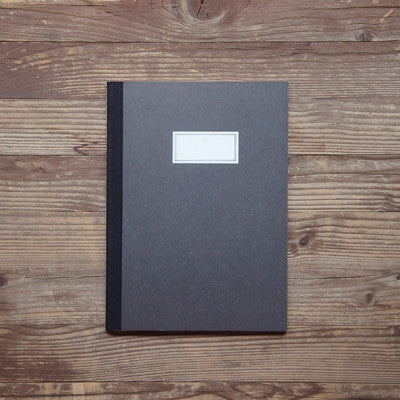 Stitch Notebook Plain - Black - Size M