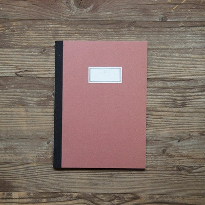 Stitch Notebook Plain - Red - Size M