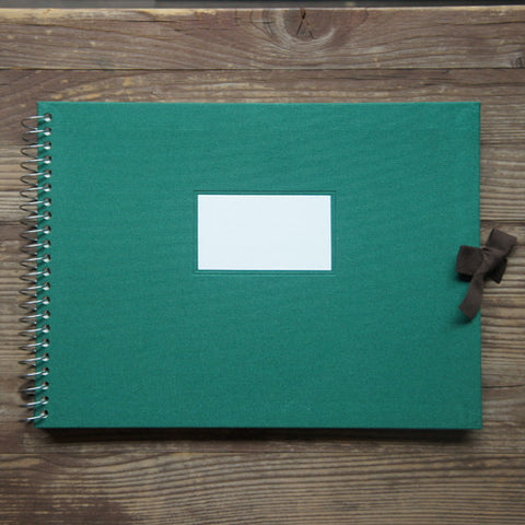 Photo Album Vintage O-Check - Fabric Cover - Green - L Size
