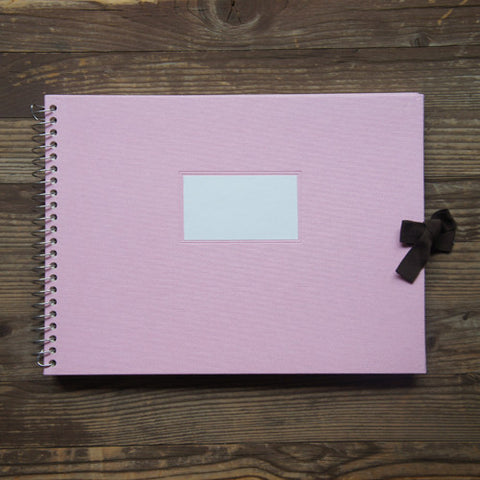 Photo Album Vintage O-Check - Fabric Cover - Pink - L Size