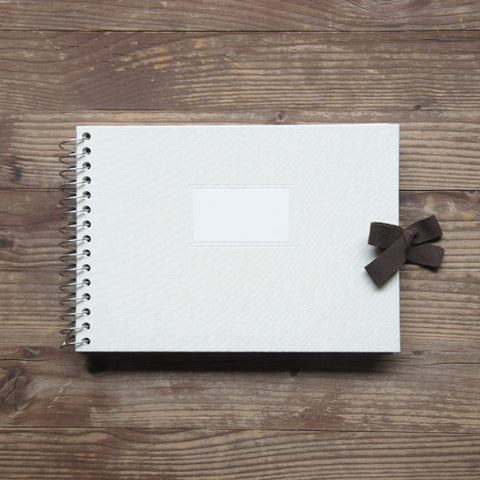 Photo Album Vintage O-Check - Fabric Cover - Ivory - S Size