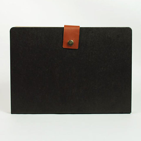 Accordion Folder - L Size - Black