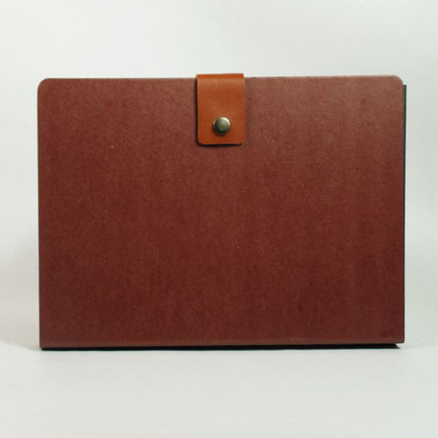 Accordion Folder - L Size - Brown