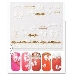 Sweet Nail Sticker - 02 Pure Ribbon
