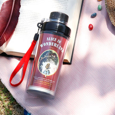 Water Bottle - Alice in Wonderland - Red- AL1569