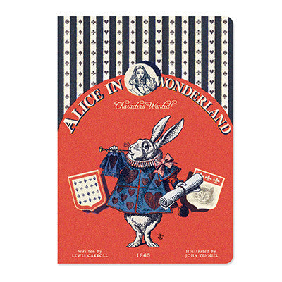 Message Card - Alice in Wonderland - Vintage Galore - White Rabbit - AL8186
