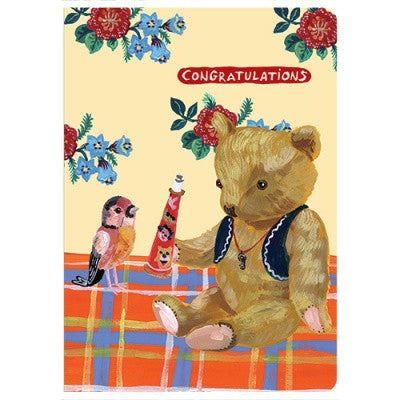 Message Card - Nathalie Lété - Congratulations - Teddy Bear - NL5666