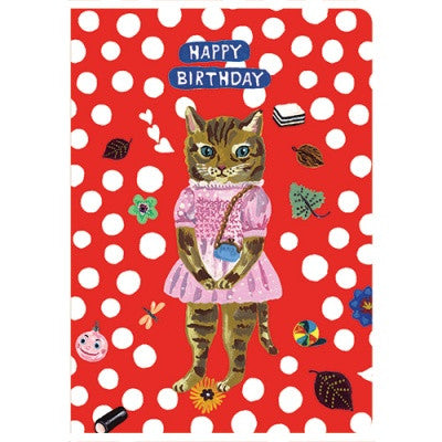 Message Card - Nathalie Lété - Birthday - Cat - NL5703