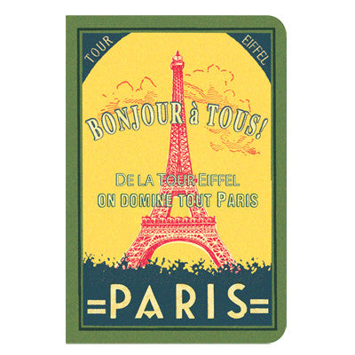 Stitch Notebook - Paris - Vintage Galore - Line Note - Pocket - VY7486