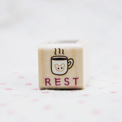 Wood Stamp - My Today - T10 - Rest