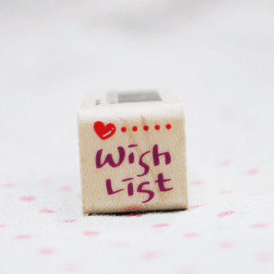 Wood Stamp - My Today - T25 - Wish List