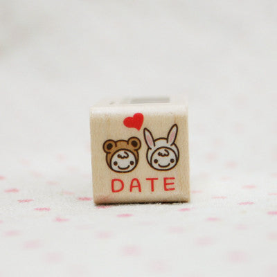 Wood Stamp - My Love - L01 - Date