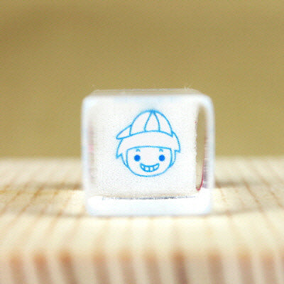 Glass Stamp - 132 - Boy
