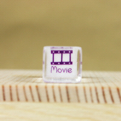 Glass Stamp - 158 - Movie
