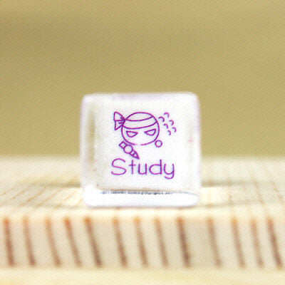 Glass Stamp - 163 - Study