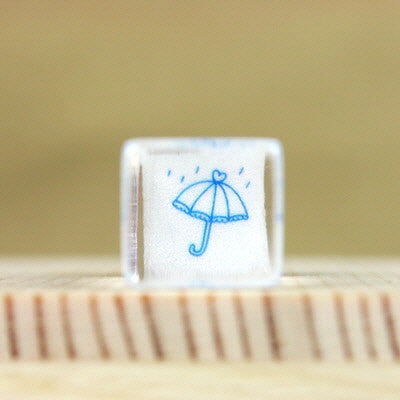 Glass Stamp - 171 - Rain