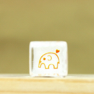 Glass Stamp - 189 - Elephant