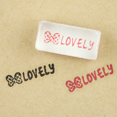 Long Line Glass Stamp - 239 - Lovely