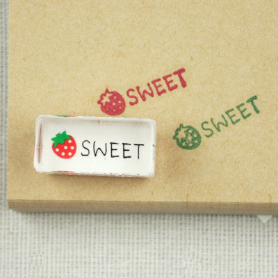 Long Line Glass Stamp - 241 - Sweet