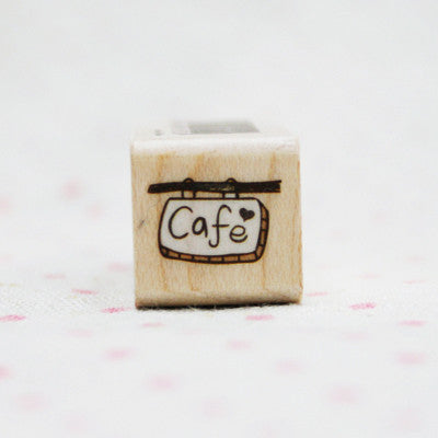 Wood Stamp - My Today - T18 - Cafe